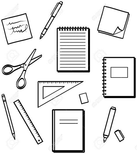 coloring book zip drive school supplies black and white clipart clipground