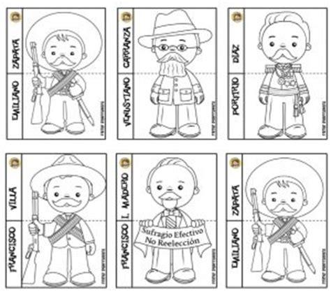 imagenes para colorear sobre la revolucion mexicana fant 225 sticos dise 241 os de los personajes de la revoluci 243 n