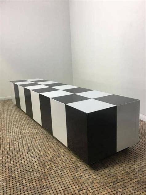 Checkerboard Coffee Table Milo Baughman Rectangular Checkerboard Coffee Table At 1stdibs