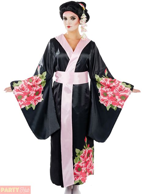 Geishana Dress Geisha Costume Adults Japanese Fancy Dress Womens