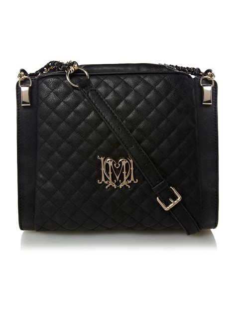 Moschino Quilted Crossbody Bag moschino modern quilted large crossbody bag in black