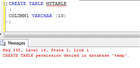 Create Temporary Table by Sql Server 2008 Create Temp Table Permission Access