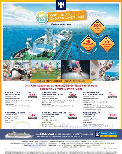 agoda citibank indonesia royal caribbean roadshow at vivocity from 19 25 sep 2016