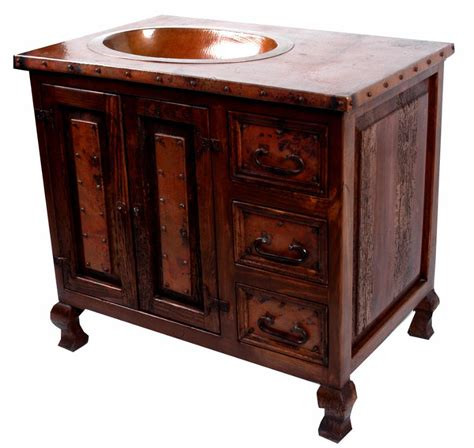 Vanities With Copper Sink Oldecopper Bathroom Vanity With Copper Sink