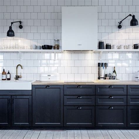 ikea subway tile the 25 best black ikea kitchen ideas on pinterest