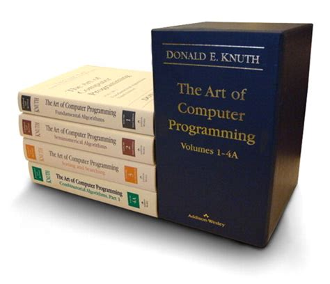 Art Of Computer Programming Knuth | art of computer programming volumes 1 4a boxed set the