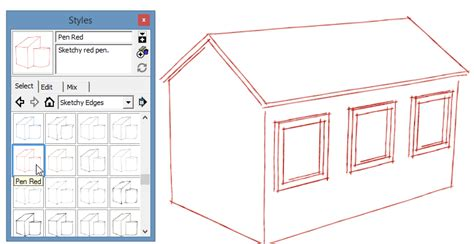 layout vs sketchup sketchup styles part 2 style tips my favorite styles