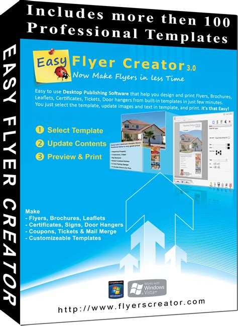 Easy Flyer Creator 3 0 To Design Business Flyers Brochures Certificates Tickets And Mail Easy Flyer Template