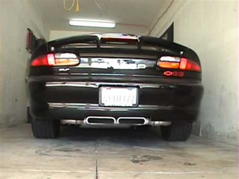 2002 camaro exhaust my 2002 chevy camaro ss cold startup showing the