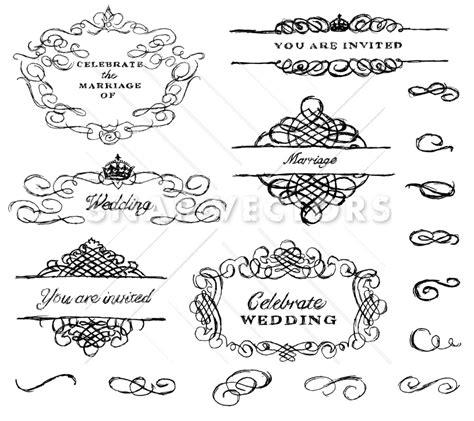 wedding invitation ornaments vector vector illustration of wedding ornament set snap vectors