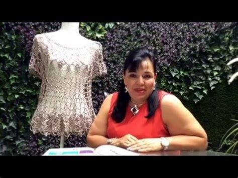 blusas tejidas de laura cepeda parte2 blusa de hojas tejida a ganchillo f 225 cil y r 225 pido