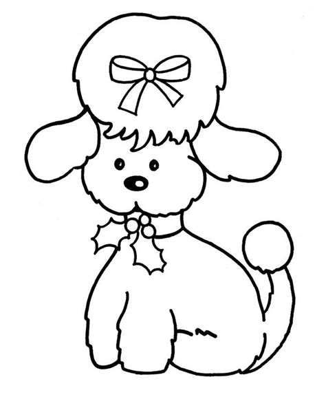 poodle coloring pages for kids coloring home