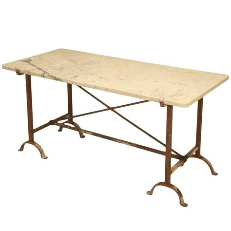 Iron And Table L by Antique Iron And Marble Kitchen Table At 1stdibs