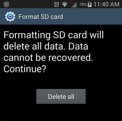 format sd card android how to format sd card in android