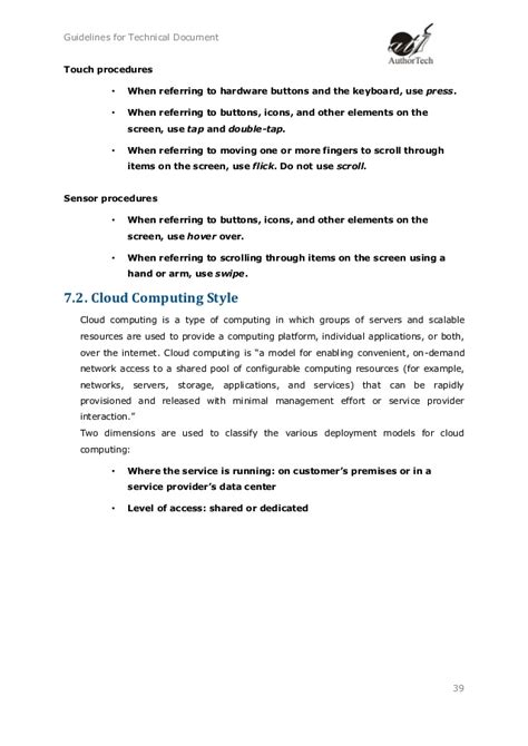 How To Write A Guideline Document