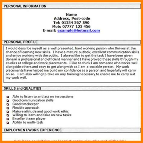cv skills profile ideas exle of a profile for airline gate cover letter exles