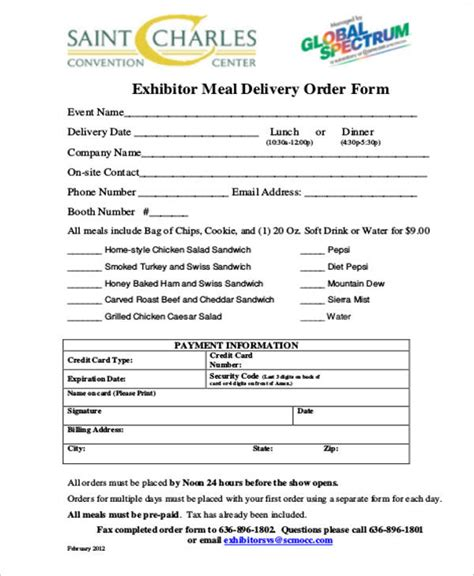sample delivery order form  examples  word