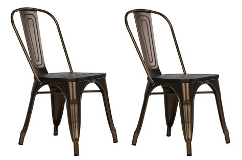 antique bronze metal chairs dorel fusion antique bronze metal dining chair with wood