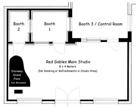 recording studio floor plans recording studio at red gables floor plan