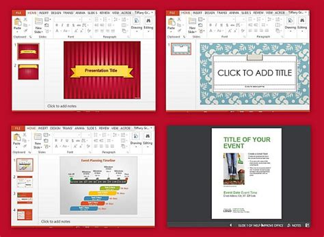 event presentation layout event presentation templates for powerpoint