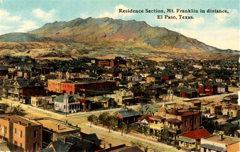 Records El Paso Tx File Residence Section And Mt Franklin El Paso Jpg
