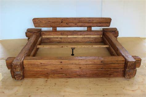 Bett Holz Rustikal holzbett rustikal haus ideen