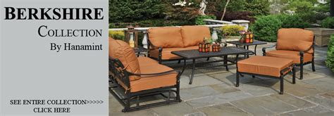 Hanamint Berkshire Patio Furniture by View All Hanamint Berkshire Cast Aluminum Patio Furniture Sets