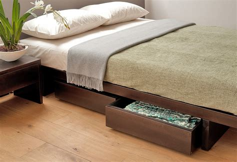 bed with bed under under bed drawers storage natural bed company