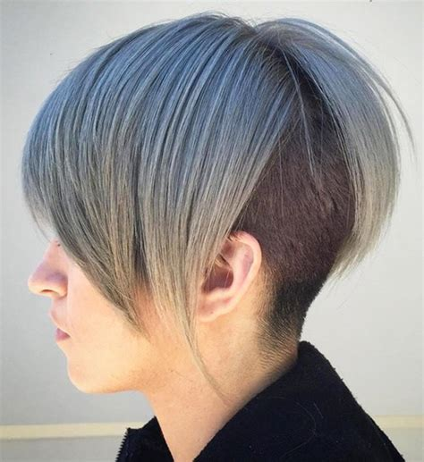 hair styles for back of top 5 colorful bob haircuts shaved in back hairstylesout