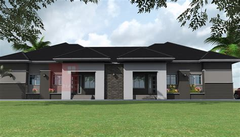 semi detached home design news contemporary nigerian residential architecture 3 bedroom