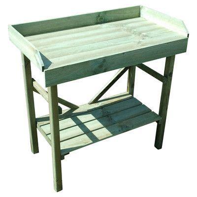 potting bench uk timber rectangular potting table