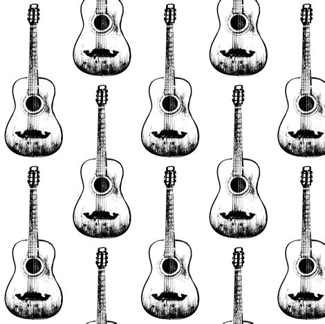 printable acoustic fabric acoustic guitars fabric thinlinetextiles spoonflower