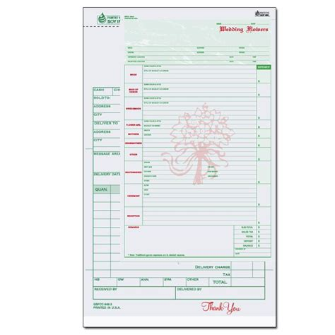 floral order form template product details designsnprint