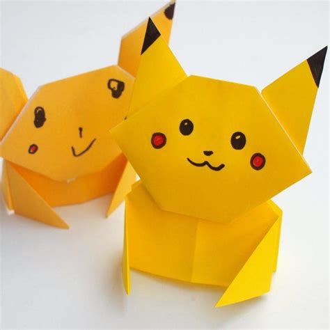 Origami Pikachu Box - pikachu origami tutorial allfreepapercrafts