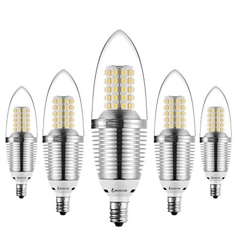 Led Light Bulbs 100 Watt Bogao 5 Pack Led Candelabra Bulb 12w Led Candle Bulbs 85 100 Watt Light Bulbs Equivalent