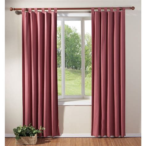 how to make thermal curtains 1 3 8 quot fluted wood pole set 97965 curtains at sportsman