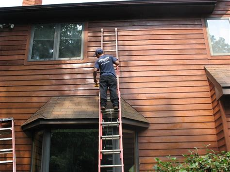 Cedar Siding Restoration - restoring cedar siding by deck restoration plus