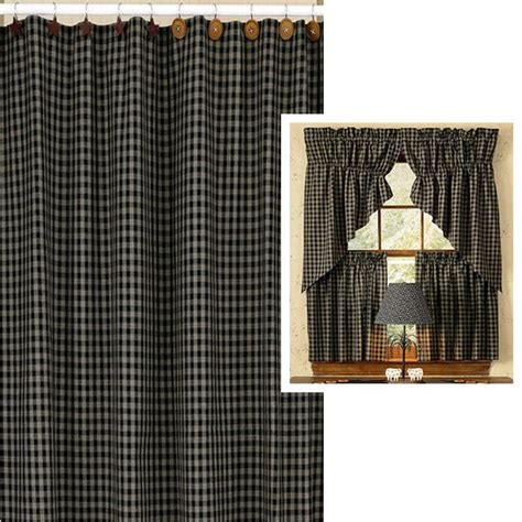 checkered shower curtain 72 quot x 72 quot sturbridge black checkered shower curtain by