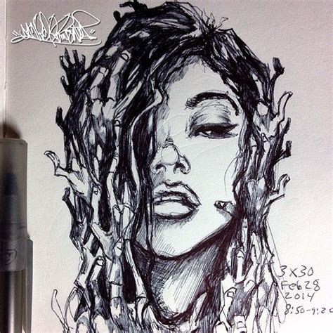 tattoo with bic pen artistdanielquinones on instagram i drew this with a bic