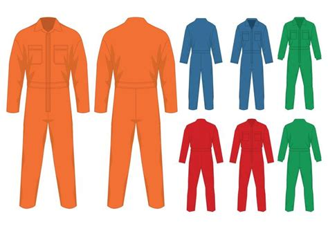 Zia Overall Set Orange overalls design template free vector stock graphics images