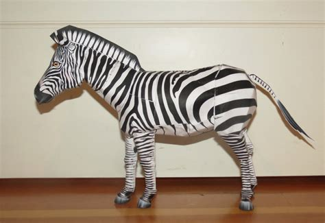 How To Make A Paper Zebra - 3d zebra papercraft by lilcrafter9 on deviantart