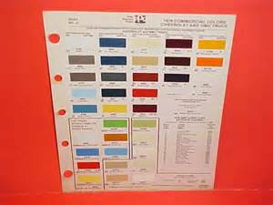1978 chevrolet gmc truck paint chips color chart 78 73