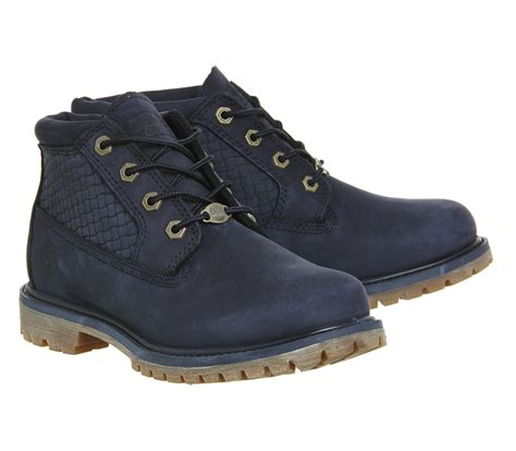 blue timberland boots timberland nellie chukka waterproof boots in blue