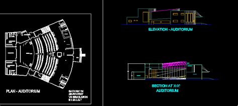 auditorium dwg section  autocad designs cad