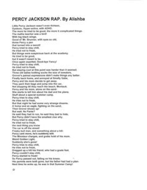 Letter Rap Song 1000 Images About The Lightning Thief On The Lightning Thief Percy Jackson And