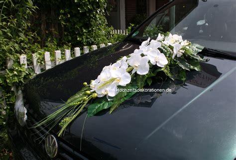 autoschmuck hochzeit modern autodeko orchideen hochzeit perlen hochzeitsdekorationen