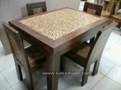 Meja Makan Coin Mebel Jepara Meja Makan 4 Kursi meja kursi makan coin koin minimalis jepara set ud lumintu gallery furniture