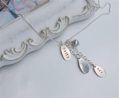 Handmade Name Necklace - handmade silver family name necklace by caroline brook