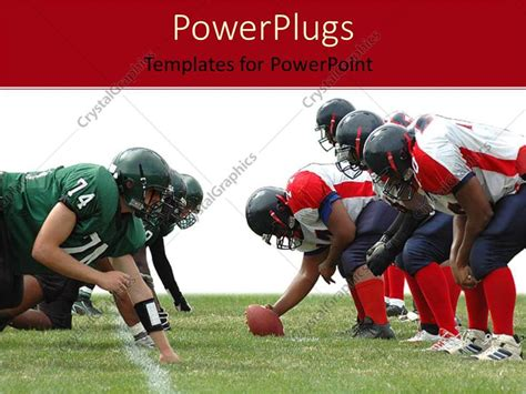 Power Point Themes Rugby | powerpoint template two rugby teams with a rugby ball 14346