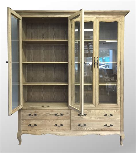 provincial furniture glass display cabinet
